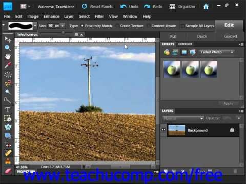 Photoshop Elements 9.0 Tutorial The Spot Healing Brush Tool Adobe Training Lesson 13.17