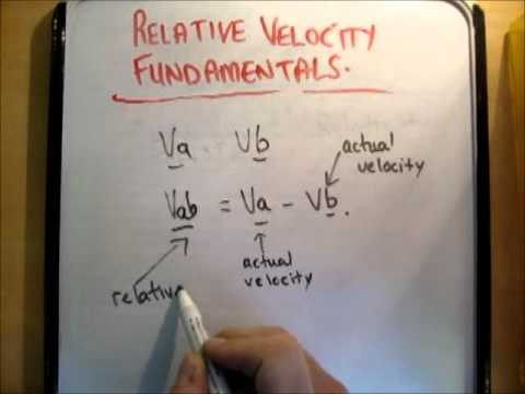 Relative velocity : fundamentals