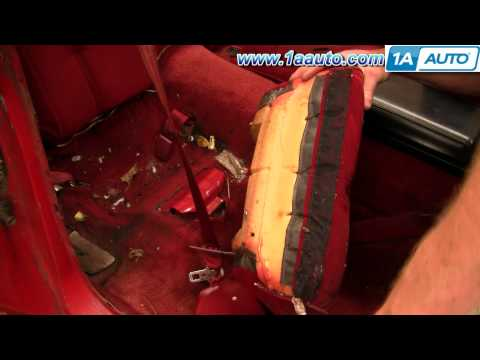 How To Remove Rear Seats 82-92 Chevy Camaro and IROC-Z Pontiac Firebird and Trans AM 1AAuto.com
