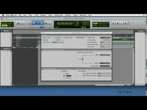 Pro Tools: Setting up a new session | lynda.com tutorial