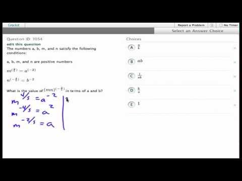 Grockit SAT Math - Multiple Choice: Question 3054