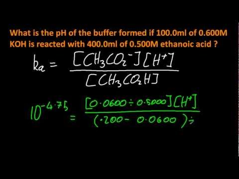 18.2.2 Solve problems involving the composition and pH of a specified buffer system IB Chemistry HL