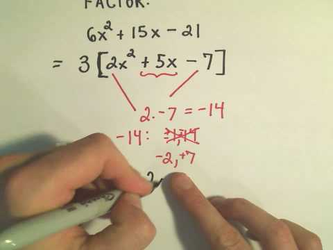 Factoring Trinomials: Factor by Grouping - ex 2