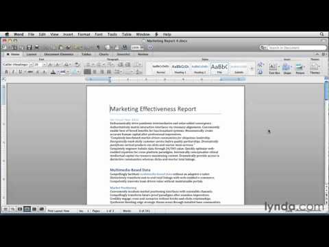 Microsoft Word: How to use Quick Styles | lynda.com tutorial