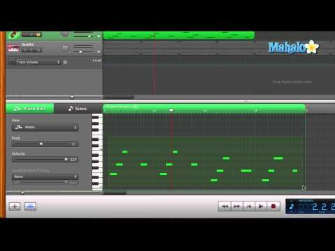 GarageBand Tutorial - Editing MIDI Transposing Notes