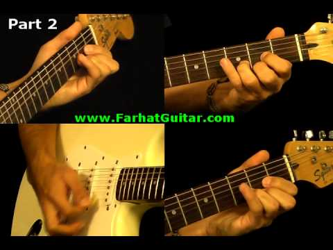 Sunday Bloody Sunday -U2 Guitar Cover Part 2  www.FarhatGuitar.com