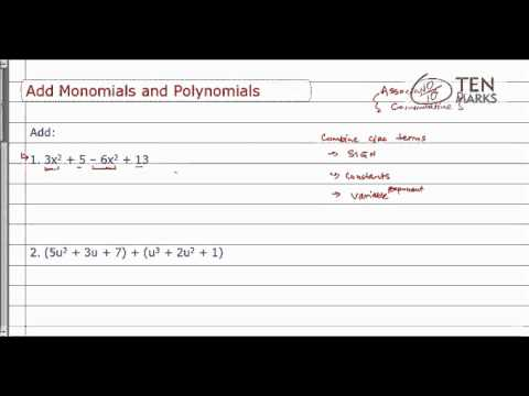 Adding Monomials and Polynomials