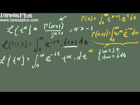 Relación entre la función gamma y la transformada de laplace (demostración)