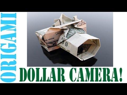 Origami Daily - 179: Digital Camera (Dollar Bill Camera) - TCGames [HD]