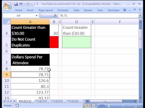 YTLE#53: Excel Pivot Table and COUNTIF function