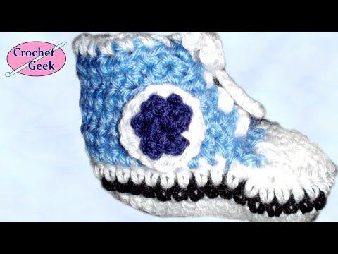 Crochet Geek - Crochet Baby High Top Bootie