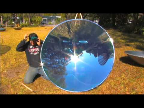 "Solar ""Death Ray"" PARABOLIC MIRROR 55.7 PARABOLOID STEAM GENERATOR Concave"