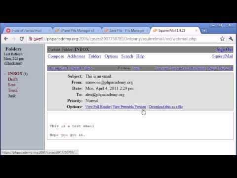 Beginner PHP Tutorial - 99 - Sending an Email Part 2