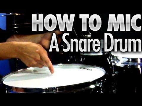 How To Mic A Snare Drum - Drum Lessons