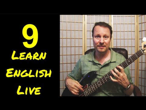 Learn English with Steve Ford -  Learn English Live 9 - Possessives, Phrasal Verbs