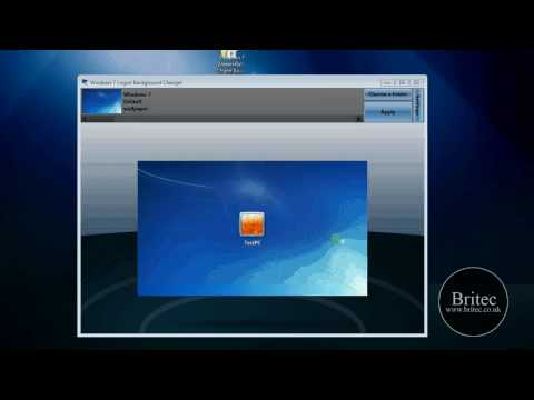 How to Change Your Windows 7 Logon Background Screen by Britec