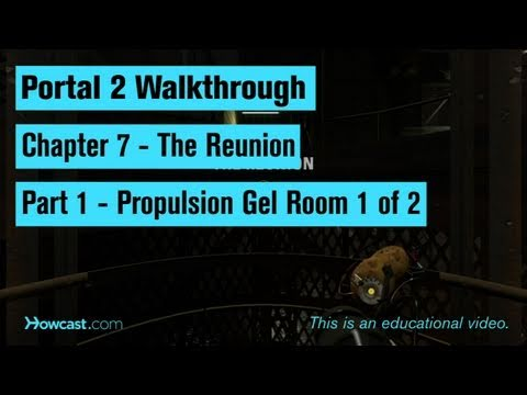 Portal 2 Walkthrough / Chapter 7 - Part 1: Propulsion Gel Room 1 of 2