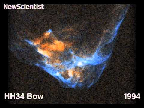 Gas jets expand during star birth