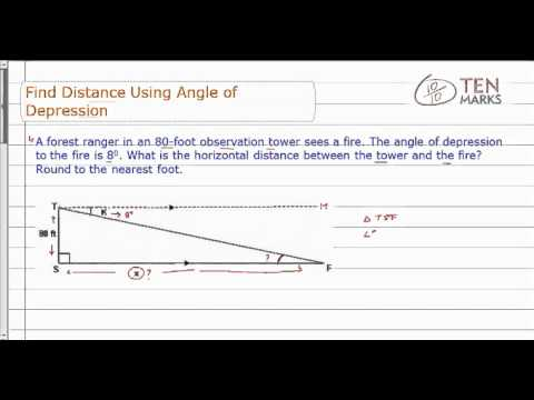 Find Distance Using Angle of Depression
