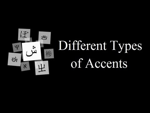 Different types of accents