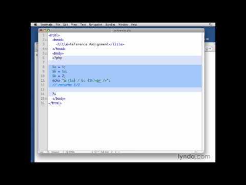 MySQL, PHP: Making a reference assignment   lynda.com