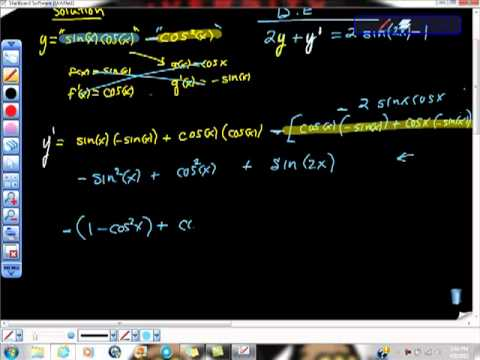 AP Calculus Verifying a Solution to a Differential Equation Trig Function