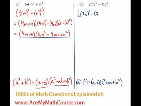 Polynomials - Factoring Two Cubes Question #6