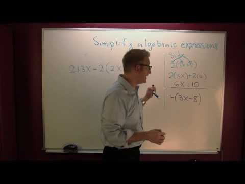 Simplifying algebraic expressions.mov