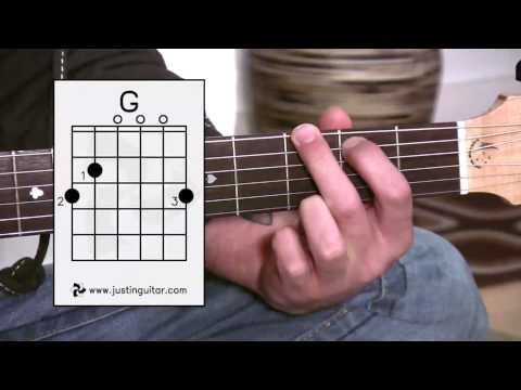 The G Chord (Guitar Lesson BC-131) Guitar for beginners Stage 3