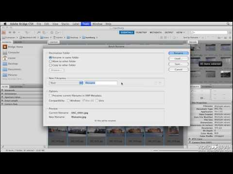 Photoshop CS4 Tutorial: Batch Renaming Files in Adobe Bridge