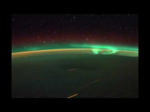 Time lapse aurora from ISS, HD