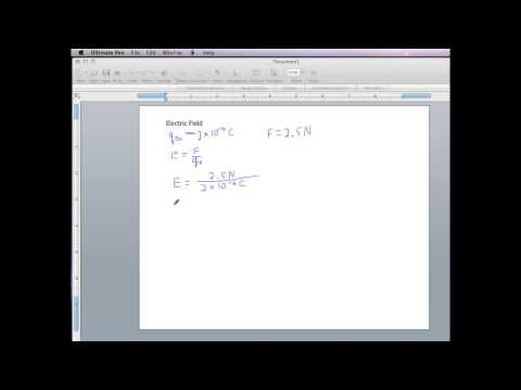 PHYS 1550 Electric Field Using a Scientific or Graphing Calculator