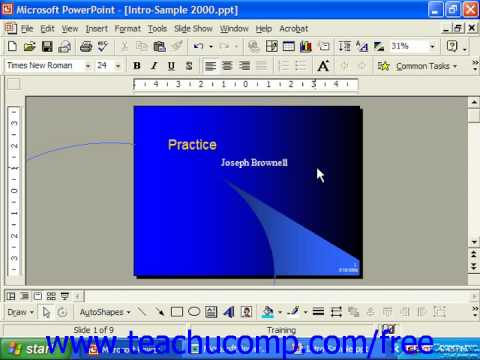 PowerPoint 2003 Tutorial Title Master 2000 & 97 Microsoft Training Lesson 24.2