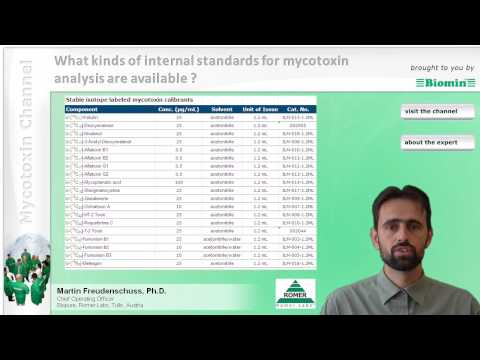 What kinds of internal standards for mycotoxin analysis are available ?