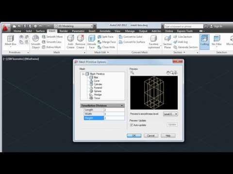 Create and Modify Meshes — AutoCAD 2012