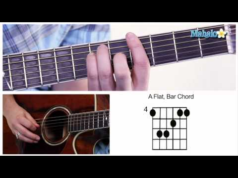 "How to Play ""A Flat"" Bar Chord"