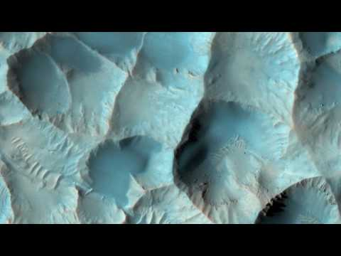 Mars Flying Down to Frost Patches and Crater Floors