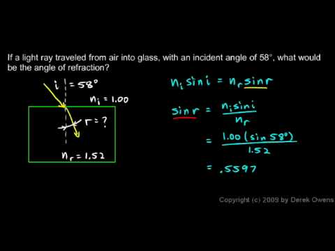 Physics 11.2.3b - Snell's Law Example