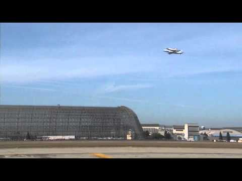 Space Shuttle Endeavour Over NASA's Ames Research Center