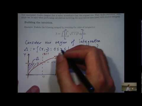 Reverse the order in double integrals