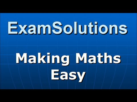 Simultaneous Equations : Substitution Method : Example 2 : ExamSolutions