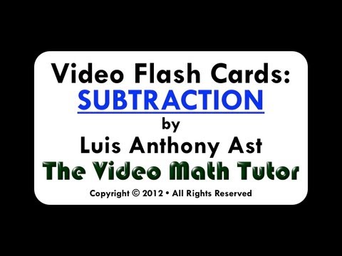 Video Flash Cards: Subtraction by 4