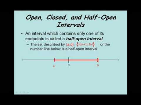 Set Notation and the Real Number Line