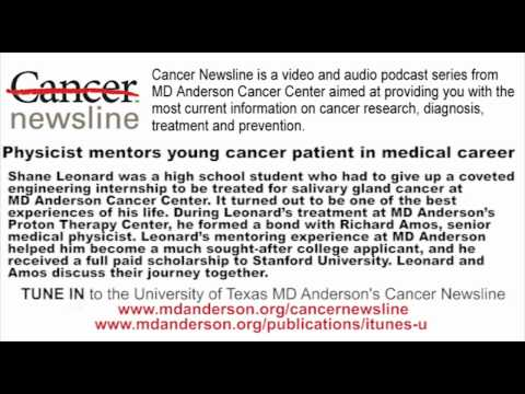 Physicist mentors young cancer patient in medical career