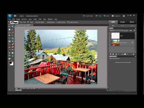 Photoshop Elements: Removing background content | lynda.com tutorial