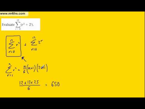 (b) Summing finite series (FP1 Edexcel) example 2 with geometric series (further maths)