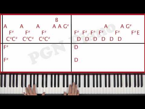 ♫ ORIGINAL - How To Play Halo Beyonce Piano Tutorial Lesson - PGN Piano