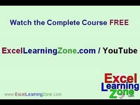 Microsoft Excel 101 part 12