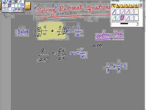 Solving Rational Functions Pt I College Algebra