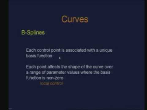 Lecture - 15 Curves (Contd.)